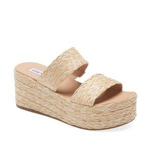 STEVE MADDEN Jolted Wedge Sandal NWT 7.5 Boho